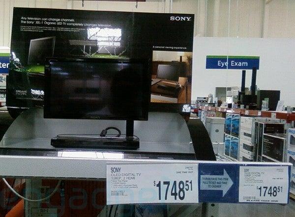 Dealzmodo: Sony's XEL-1 OLED TV In Sam's Club Bargain Bin For $1,748