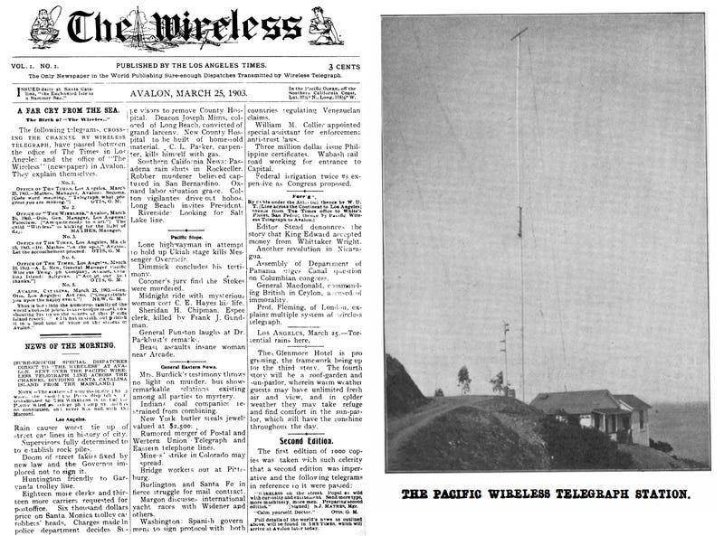 America's First 'Wireless Newspaper' Killed Catalina's Carrier Pigeons