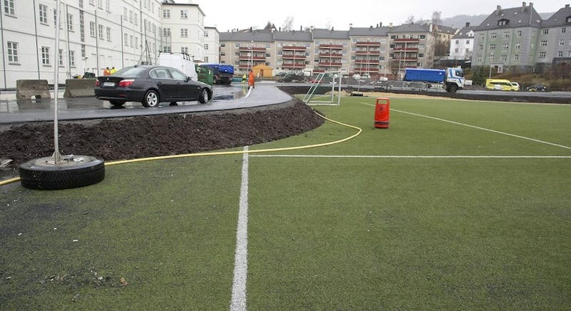 Norwegian Soccer Club Pissed Because This Road Was Built On Its Pitch
