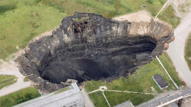 This Russian town is plagued by massive, spontaneous sinkholes