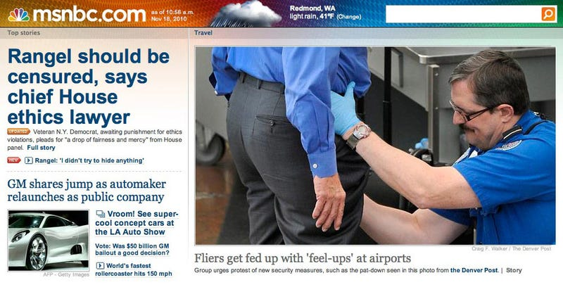 Airport Fisting Photo Makes MSNBC's Front Page