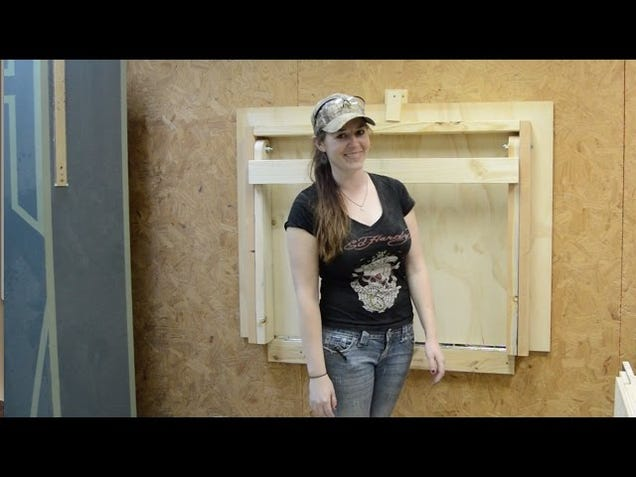 Build a DIY Fold-Down Workbench To Save Floorspace in Your Shop