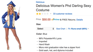 """The Reviews Are In For """"Delicious Women's PhD Darling Sexy Costume"""""""