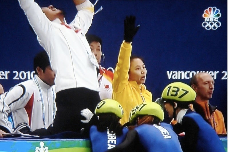The One Where The South Korean Speedskate Lady Grabs Her Coach's Crotch