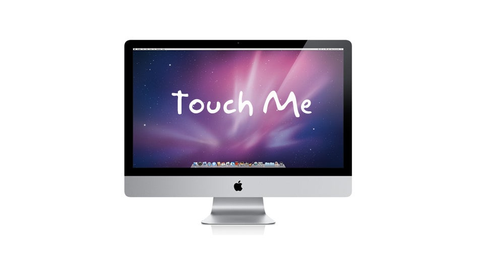 Apple computer touch screen