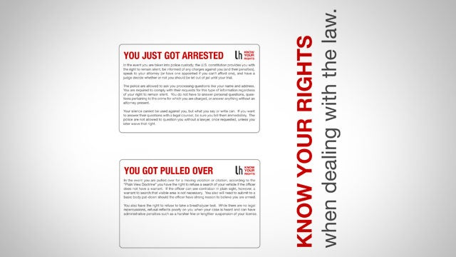 Always Know How to Deal with the Police by Keeping These Cards in Your Wallet