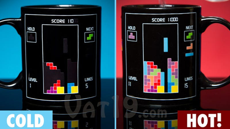 Mornings Just Fall Into Place When Your Coffee Comes From a Tetris Mug