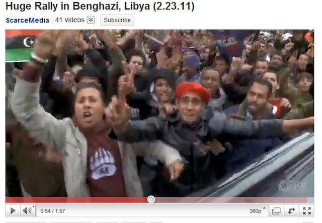 Libyan Protesters Repping Our Least Relevant College Teams