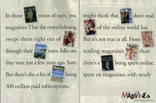 Magazine Industry Ad Features All Nine Remaining Magazines