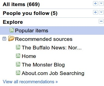 "Google Reader Sorts Feed Items by Personalized ""Magic"""