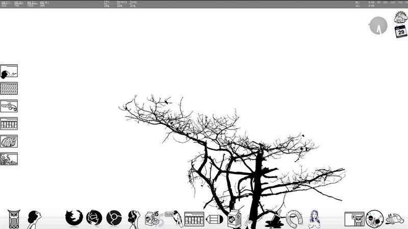 Windows Desktop in Monochrome