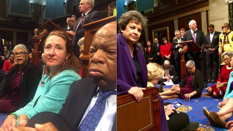 House Democrats Hold Sit-in to Demand Gun Control Vote