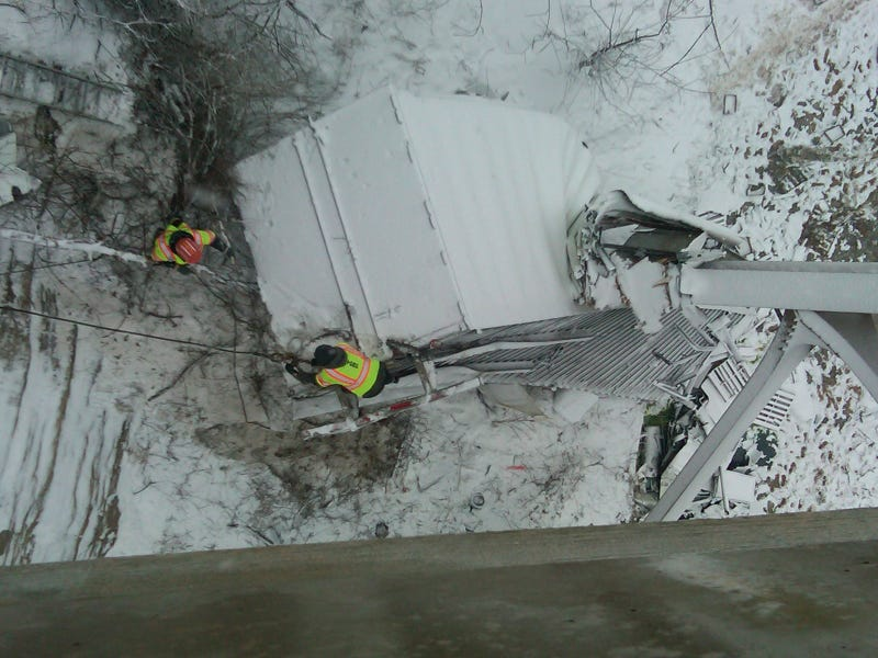 Truck Driver Survives This Incredible 100-Foot Drop *Update*