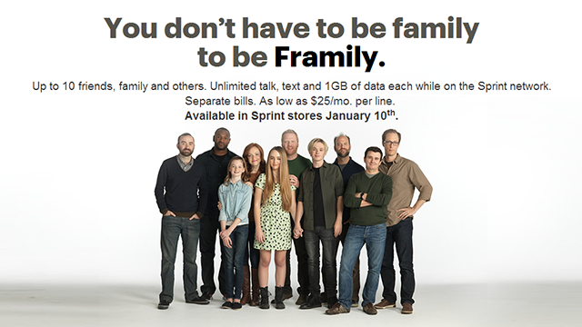 "Sprint Announces ""Framily"" Plan, Provides Discounts for Sharing Plans"