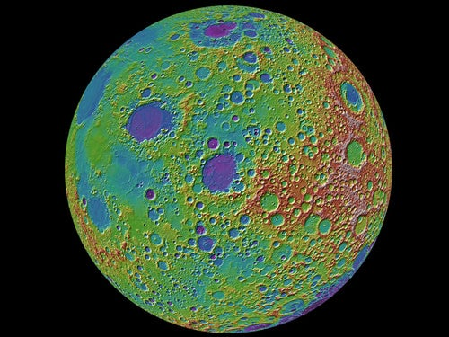 NASA Completes First Full Topographic Map of the Moon