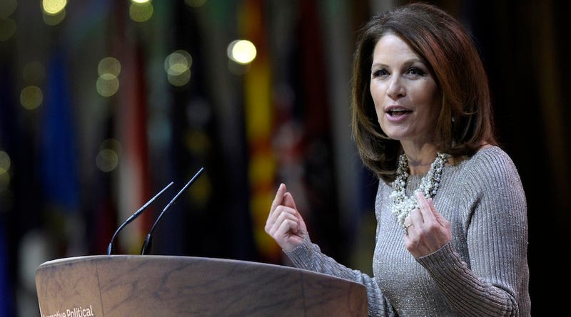 Michele Bachmann Slanders Hillary Clinton on International Women's Day