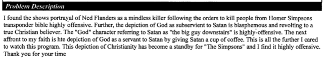 The Best FCC Complaints About Satan and Groin-Kicking On The Simpsons