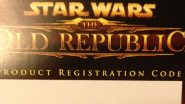 Make Sure Your Copy of The Old Republic Contains a Registration Code