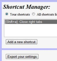 Shortcut Manager Is a Powerful Custom Shortcut Builder for Chrome
