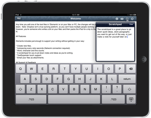 Elements: A Dropbox-Syncing Text Editor For iPads and iPhones