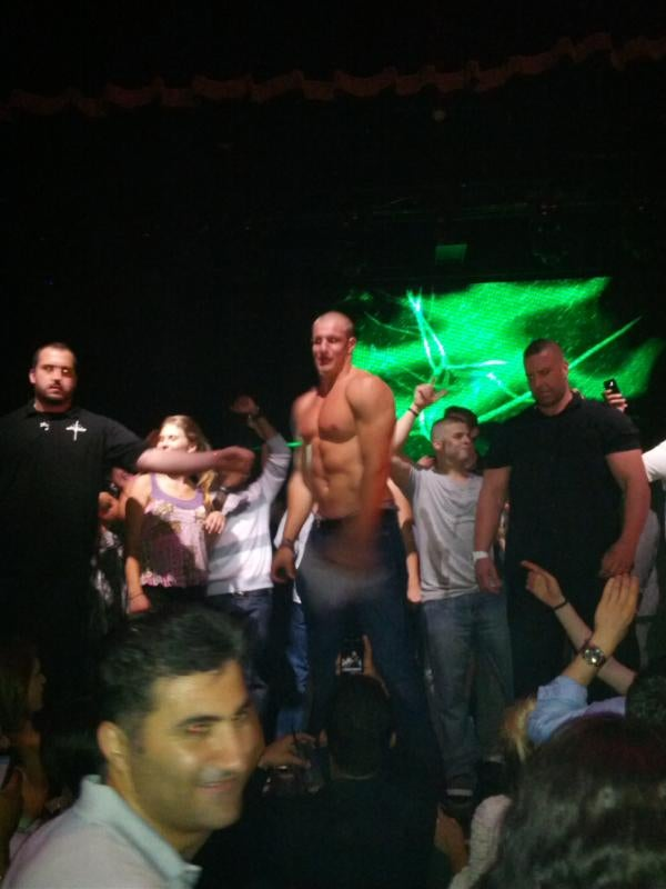 Rob Gronkowski Attends Charity Event, Removes Shirt, (Maybe) Pours Drink On Woman [UPDATED]