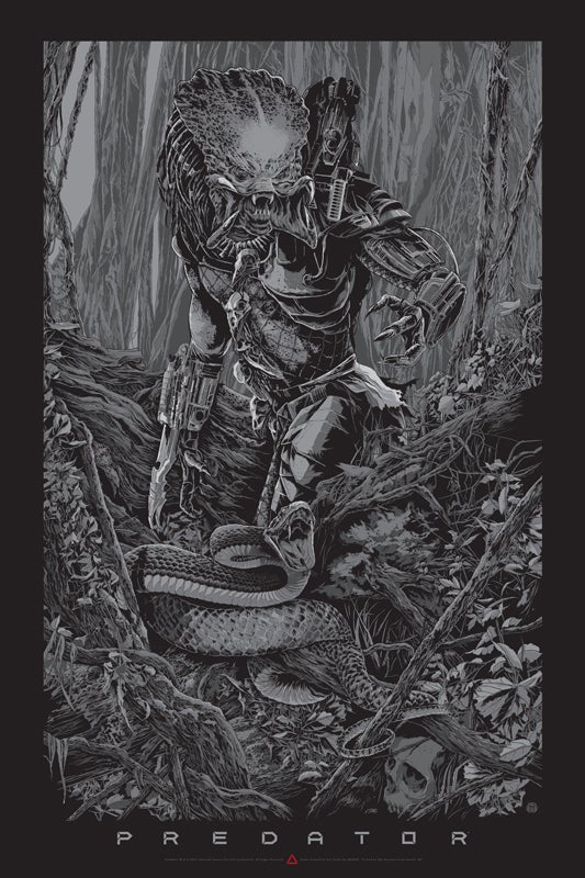 Mondo Predator Poster Exclusive Pits The Alien Warrior Against A Snake