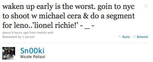 Tyra Wants Suggestions; Snooki Is Hanging With Michael Cera
