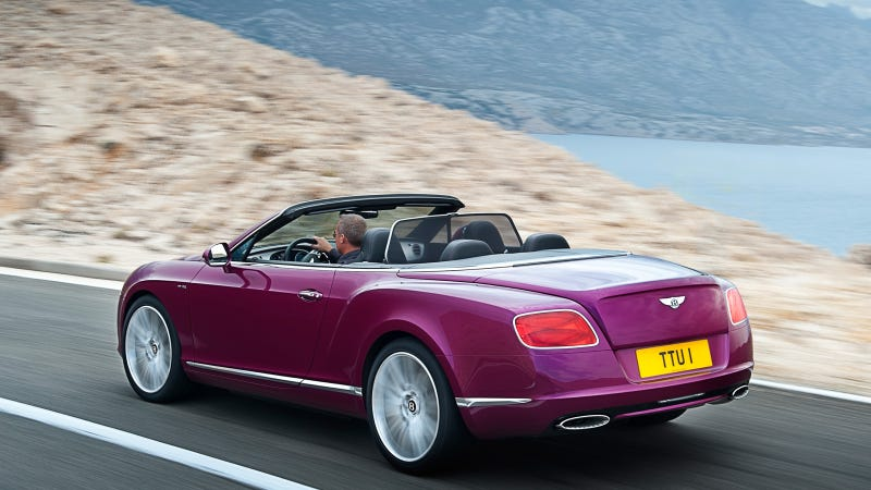 The 2013 Bentley Continental GT Speed Convertible Is Deliciously Fast And Purple
