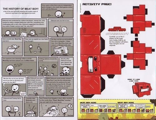 Super Meat Boy: The Comic! The Activity Book!!