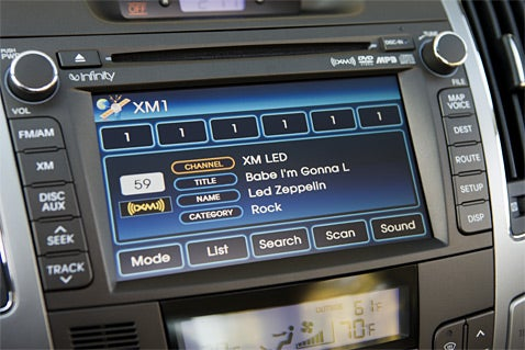 2009 Hyundai Sonata First To Feature New XM GUI