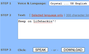 Convert text to spoken audio