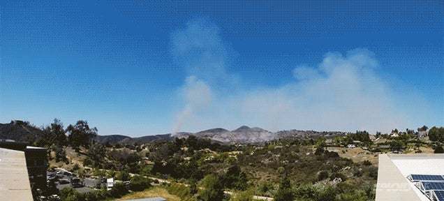 Time-lapse video captures the terrifying speed of the San Diego fires