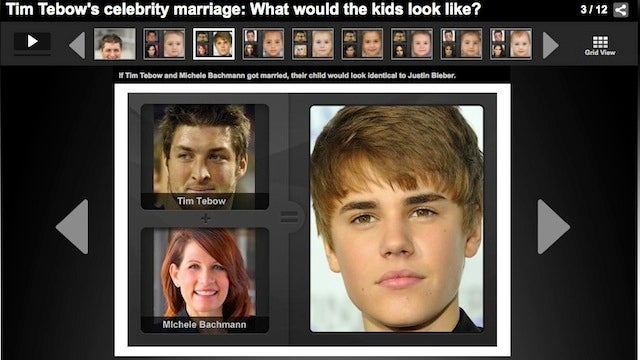 If Tim Tebow And Michele Bachmann Had A Baby, It Would Look Like Justin Bieber, NFL.com Reports