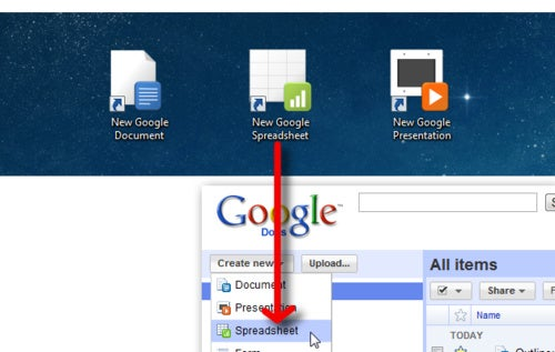 Launch New Google Documents from Shortcuts or Hotkeys