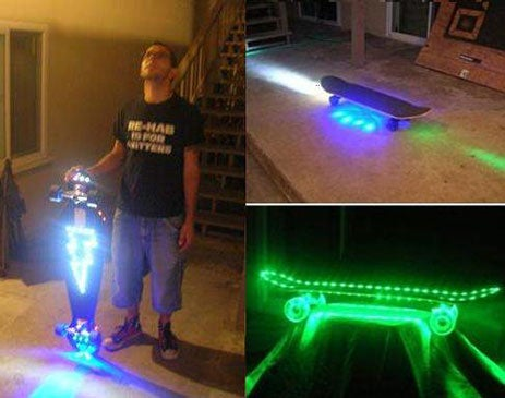 Photo Light Skateboard Enables 24-Hour SK8 Fanaticism