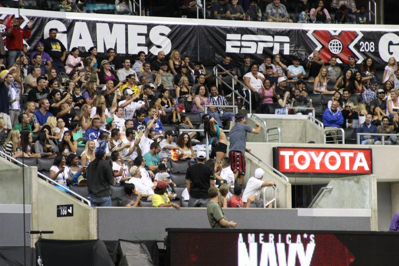 X-Games Flasher, Large Photo Make For R-Rated Where's Waldo