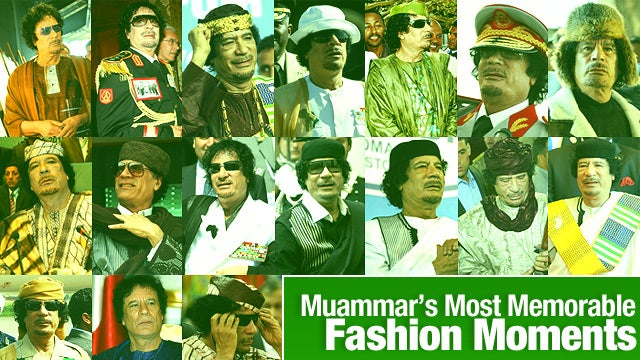 Muammar Gaddafi's Most Memorable Fashion Moments