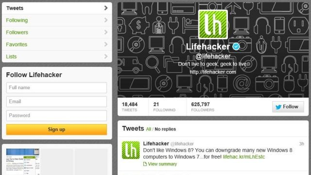 Follow Lifehacker on Twitter to Get All Our Stories as They Happen