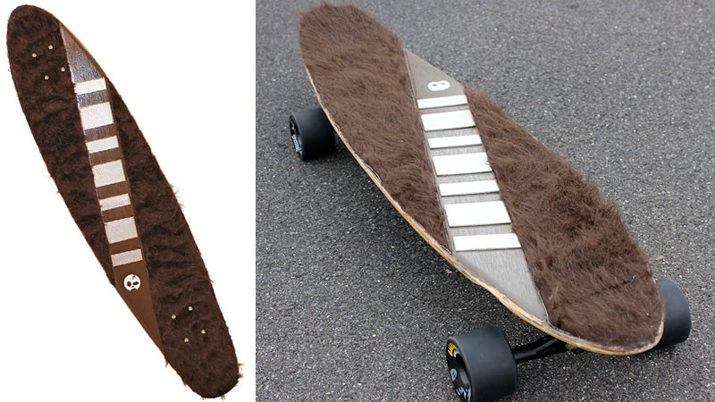It's Not Wise To Upset a Skateboarder Riding a Wookiee