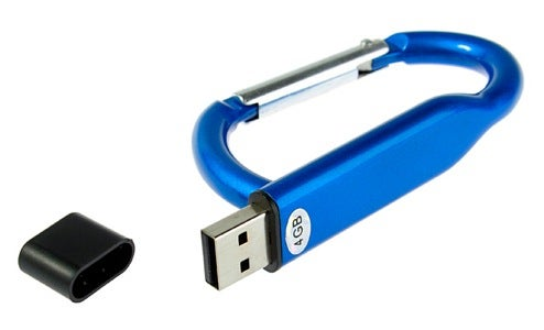 Climb Every Mountain, Ford Every Data-Stream with USB Flash Drive Carabiner