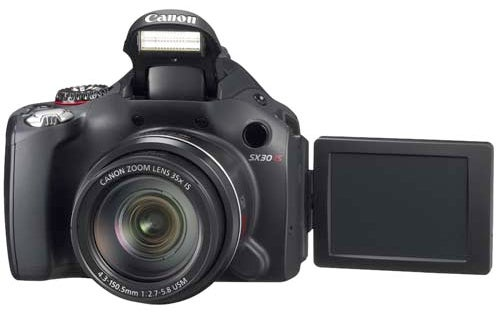 Canon's SX30 IS Camera Is First With a 35X-Wide Angle Optical Zoom Lens