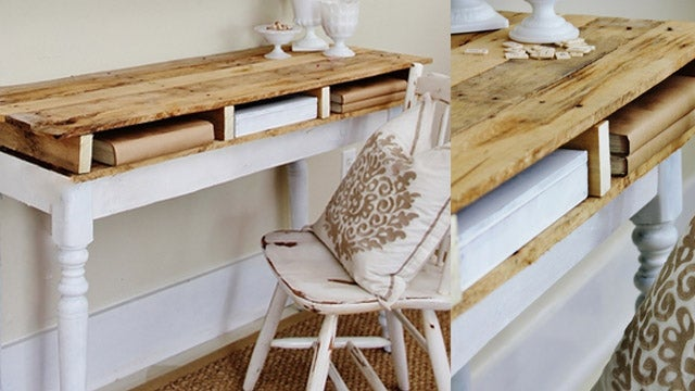 This DIY Pallet Desk Gives You a Cubby for Papers and Other Desk Accessories
