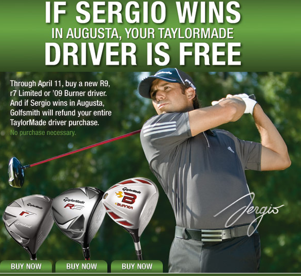 TaylorMade Offers World's Safest Promotion