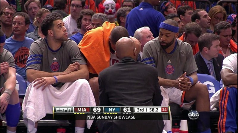 There Was A Clown In Courtside Seats At MSG Yesterday, And For Once It Wasn't Donald Trump
