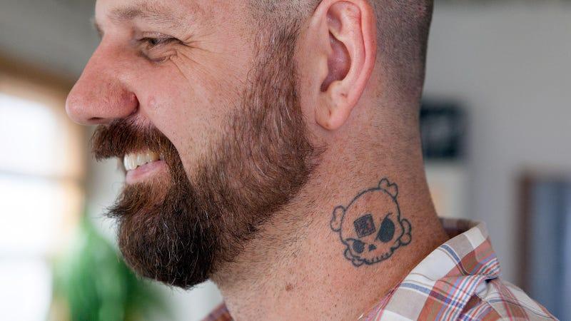 This is the man behind Ken Block's Blockhead logo: Huck Gee