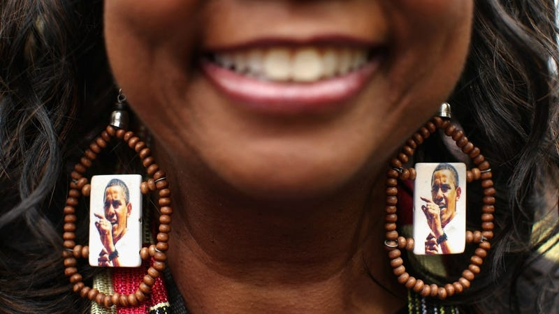 One Obama Supporter Boasts Impressive Earring Swag