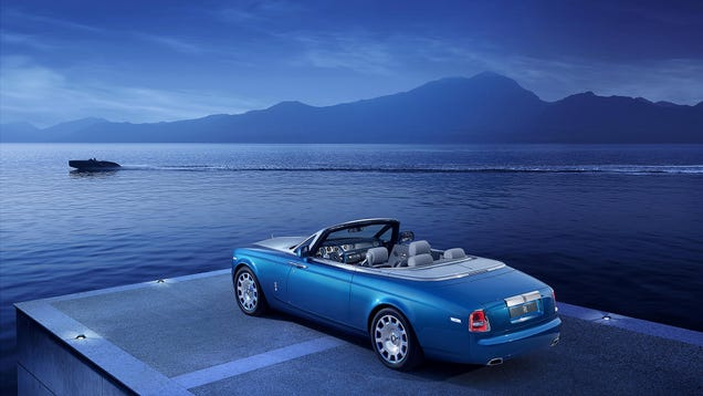 The Rolls-Royce Drophead Waterspeed Is An Art Deco Speedboat On Wheels