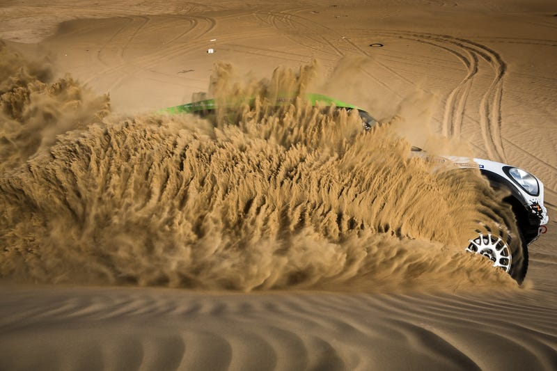 Dakar Spec Rally Car + Sand = Awesomeness