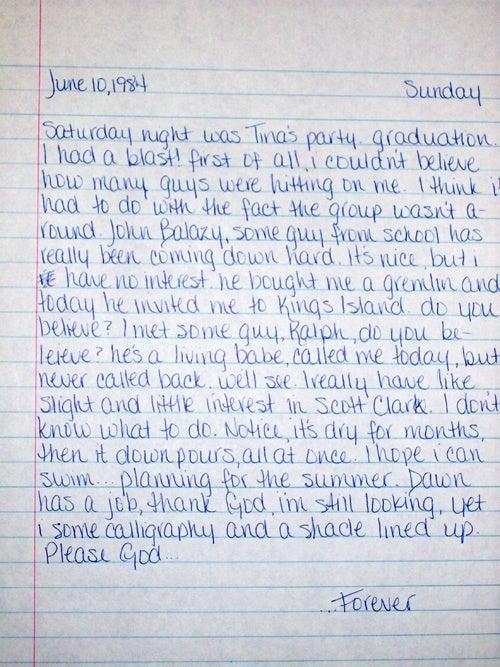 Teenage Wasteland: Your Old Diaries Are Awkward, Awe-Inspiring