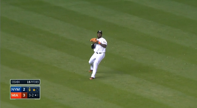 Marcell Ozuna Ends The Game With A Perfect Laser To Home Plate